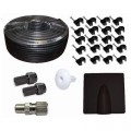 Satellite Aerial RG6 Coax Cable Kit Black 25m