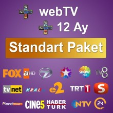 Digiturk TV + Web Standard Package 12 Months