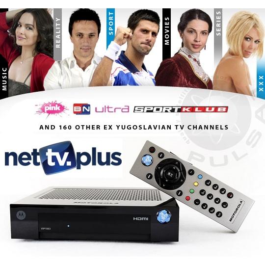 PULSAT COM - NET TV PLUS SERBIAN CROATIAN SET TOP BOX AND