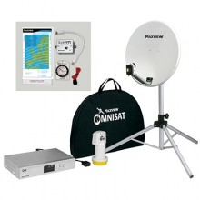 Maxview Omnisat 12v Portable Dish Kit and Digital Receiver with Easyfind LNB
