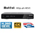 Mutant HD51 4K UHD H265 HEVC Twin Tuner Linux E2
