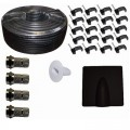 Satellite Twin 65 Coax Cable Kit Black 25m