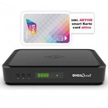 Digiquest Q60 Tivusat Italian 4K UHD Set Top Box and Card