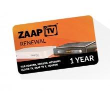 Zaap TV Device Renewal - 1 Year