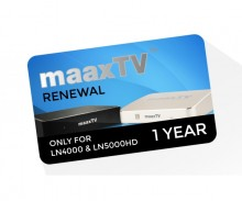 Maax TV LN5000HD Device Renewal - 1 Year