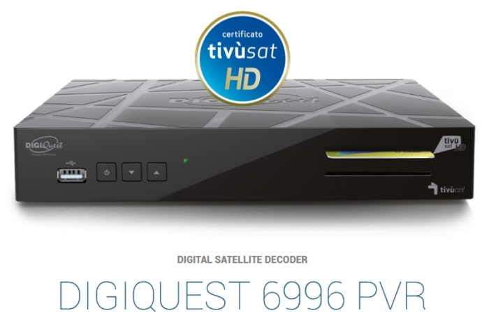 Digiquest 6996 HD Tivusat Receiver and Card