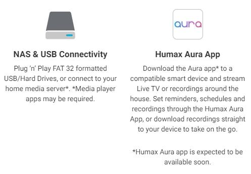 Humax Aura Characteristics
