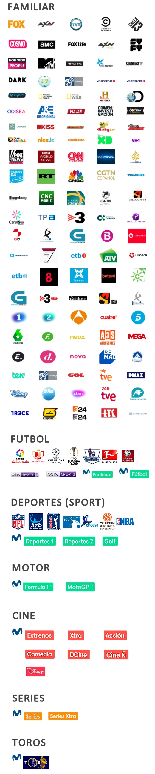 MOVISTAR CHANNELS