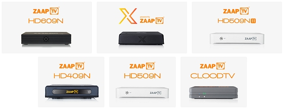 Zaap TV Set Top Boxes