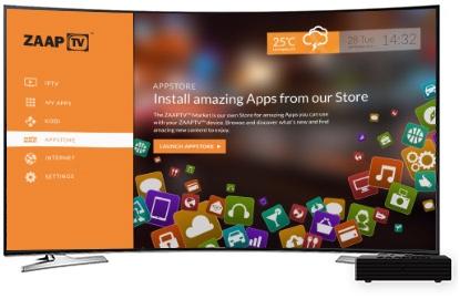 Zaap TV HD609N App Store