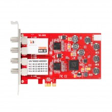 TBS6908 Professional Quad Tuner Satellite PCIe Card with EUMETcast