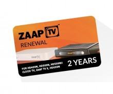 Zaap TV Device Renewal - 2 Year